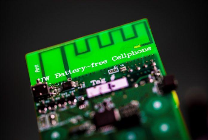 Battery-less Cellphone