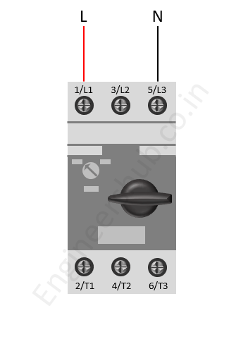 Neutral Connection of MPCB to single phase motor