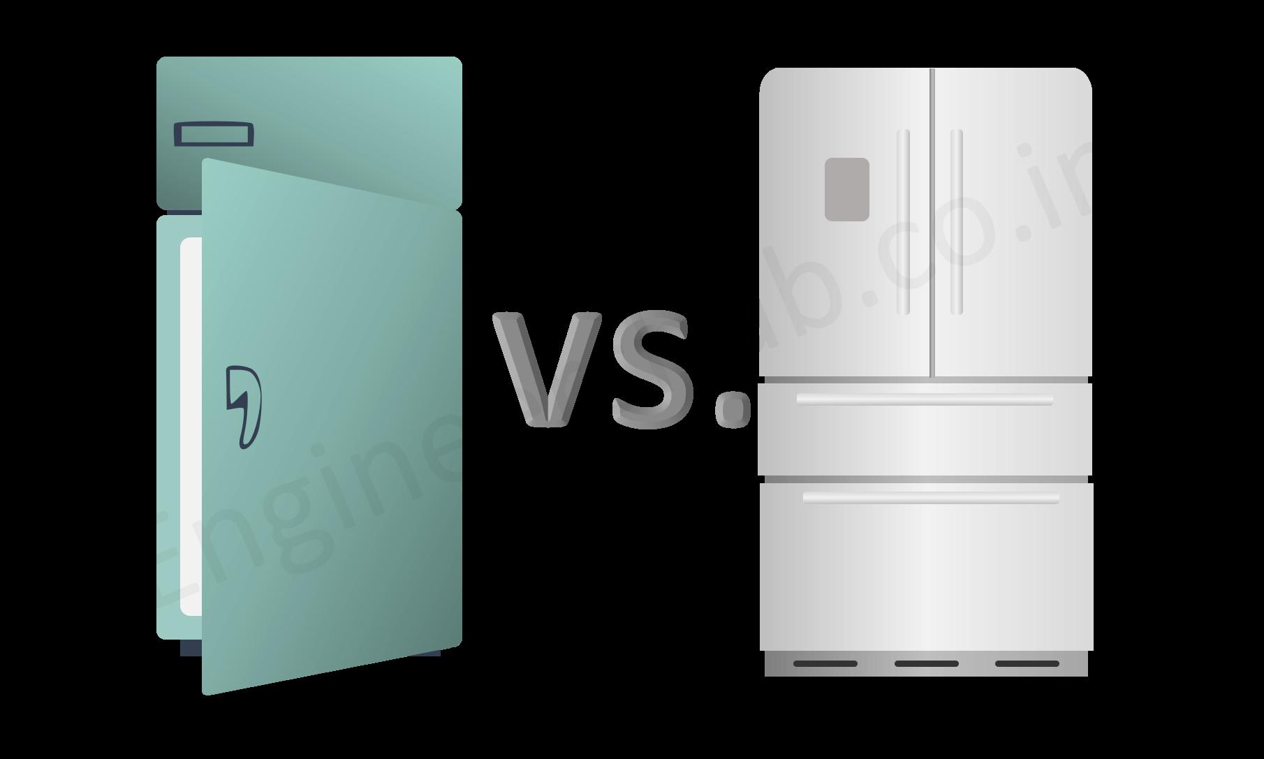 Old Refrigerator vs. new one