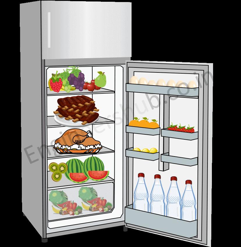 Organized food stuff in refrigerator